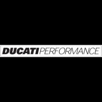 Sticker LOGO DUCATI Performance Blanc