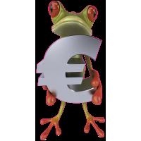 Autocollant Grenouille Euro