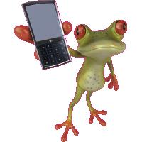 Autocollant Grenouille Telephone