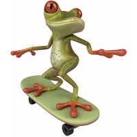 Autocollant Grenouille Skate