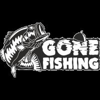 Sticker Gone Fishing