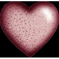 Stickers enfants Coeur avec diamants