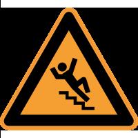 Panneau Danger Risque chute dans les escaliers