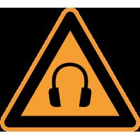 Panneau Danger Port du casque anti-bruit obligatoire
