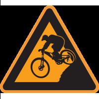 Panneau Danger Vélo Cross