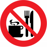 Panneau Interdiction de manger ou boire