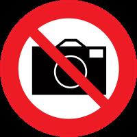 Panneau Interdiction de prendre des photos