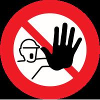 Panneau Interdiction Accès interdit
