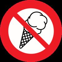 Panneau Interdiction Glace interdite