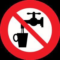 Panneau Interdiction de boire Eau non potable