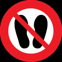 Panneau Interdiction de marcher