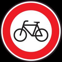 Panneau Interdiction aux vélos