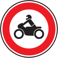 Panneau Interdiction aux motos