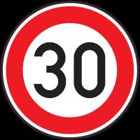 Panneau Interdiction Limite vitesse 30km/h
