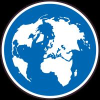 Panneau Obligation carte map monde