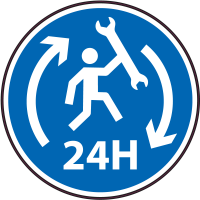 Panneau Obligation Réparation 24h/24