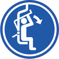 Panneau Obligation Abaisser sécurité télésiège