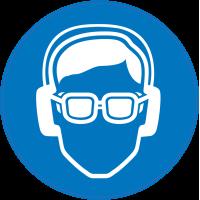 Panneau Obligation Porter lunettes et anti-bruit de sécurité
