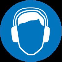 Panneau Obligation Porter anti-bruit de sécurité