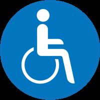 Panneau Obligation Accès personnes handicapées
