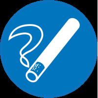 Panneau Obligation Fumer à cet endroit