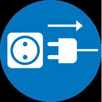 Panneau Obligation débrancher prise électrique 2