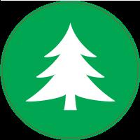 Panneau Vert Sapin
