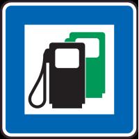 Panneau Indication Station essence 2