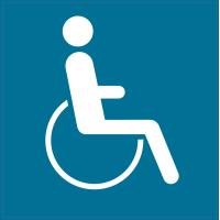 Panneau Indication Autorisation handicapés