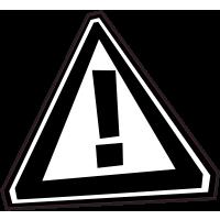 Panneau Bomb Attention danger