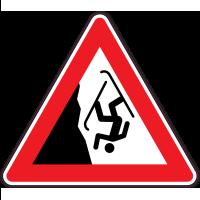 Panneau Danger Chute à ski