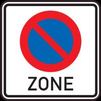 Panneau Indication Zone interdiction de stationner