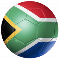 Autocollant Ballon Foot Afrique du Sud