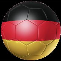Autocollant Ballon Foot Allemagne