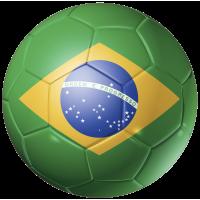 Autocollant Ballon Foot Bresil