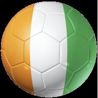 Autocollant Ballon Foot Cote d'Ivoire