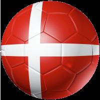 Autocollant Ballon Foot Danemark