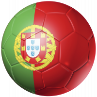 Autocollant Ballon Foot Portugal