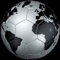 Autocollant Ballon Foot Coupe du Monde Argent