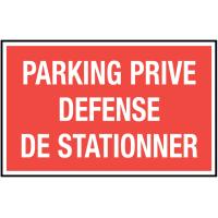 Autocollant Parking Privé - Défense De Stationner