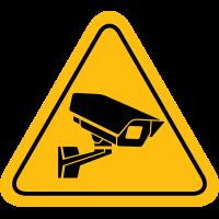 Autocollant Panneau Caméra Surveillance