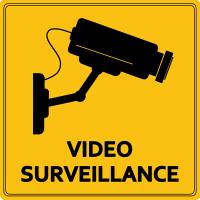 Autocollant Vidéo Surveillance