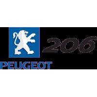 Peugeot Logo 206 Gauche