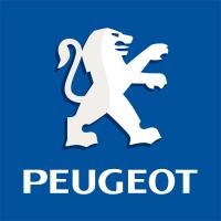 Logo Peugeot Fond Bleu Gauche