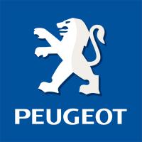 Logo Peugeot Fond Bleu Droite