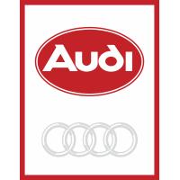 Autocollant Audi Rouge 2