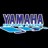 Autocollant Yamaha Racing Blanc