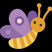 Autocollant Papillon Violet Enfant