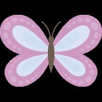 Autocollant Papillon Rose