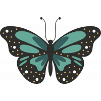 Autocollant Papillon Pois